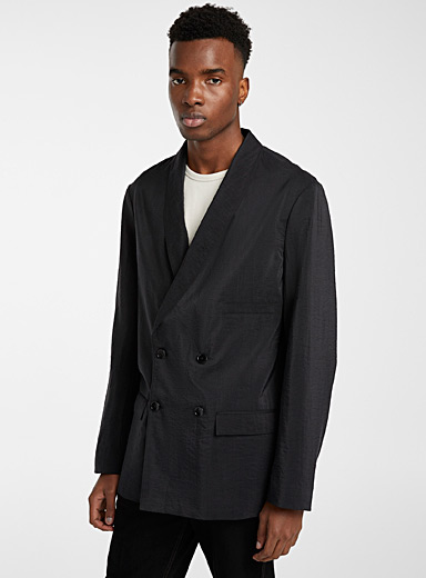 Lemaire Black Shawl collar blazer for men