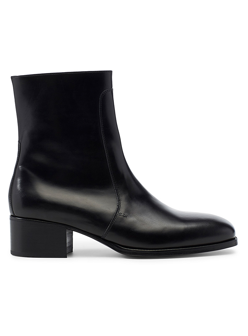Lemaire Black Elegant boots for men