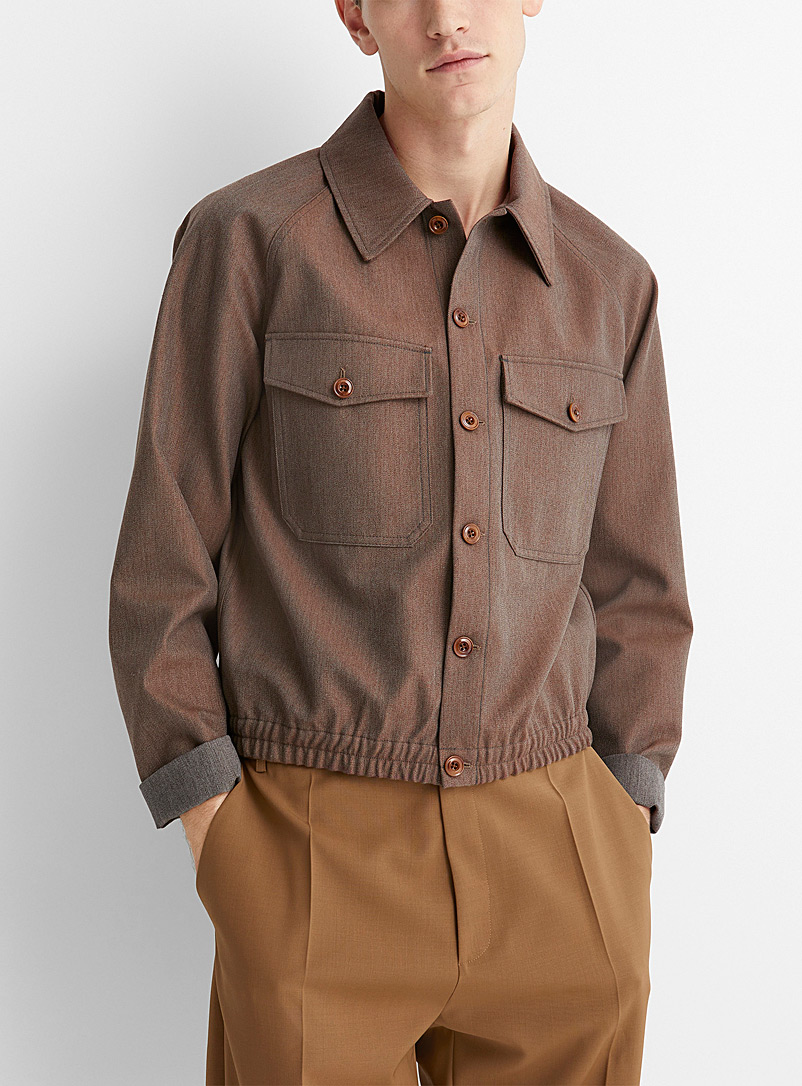 Lemaire Brown Military jacket shirt for men