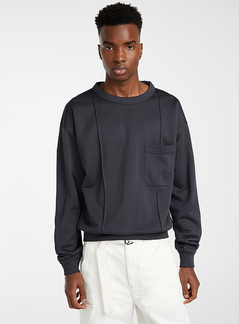 Lemaire Charcoal Carbon sweatshirt for men