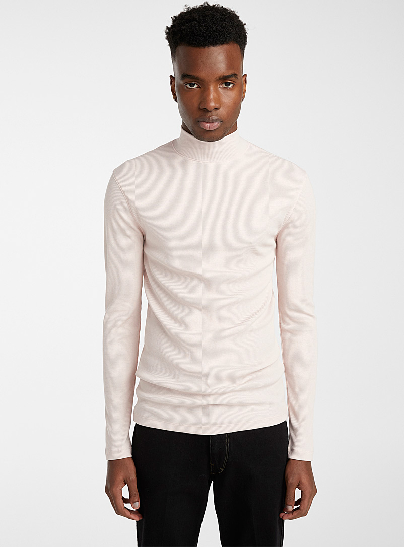 Lemaire Cream Beige Mock neck sweater for men