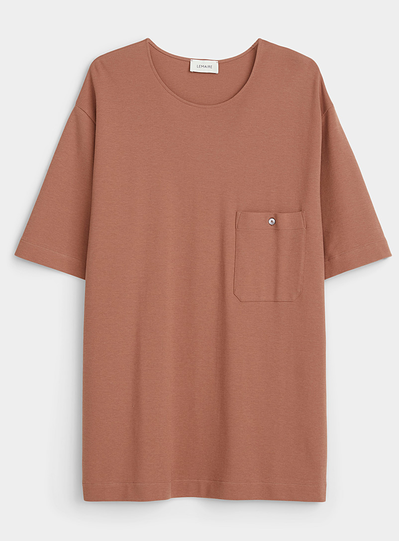 Lemaire Pink Jersey crepe T-shirt for men