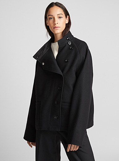 Buttoned peacoat