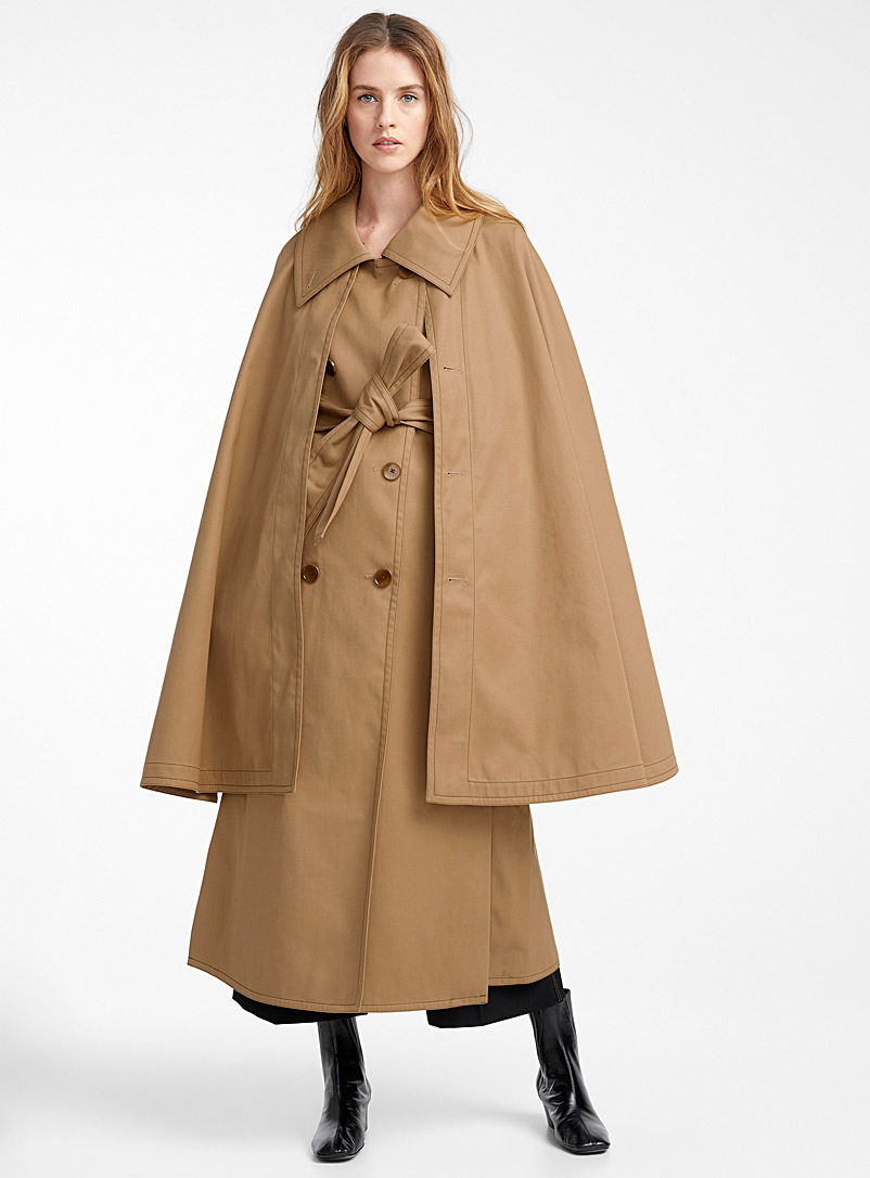 Cape trench coat - Lemaire - Brown