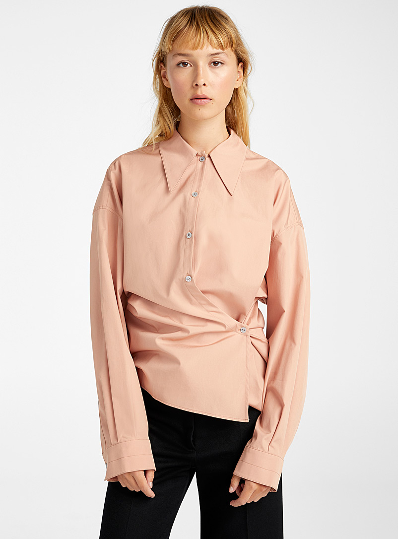 Lemaire Fawn Retro collar New Twisted blouse for women