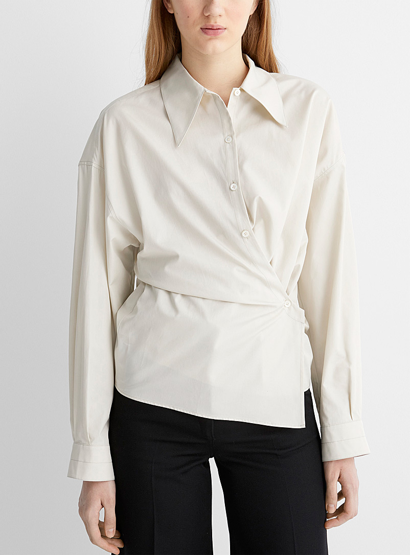 Lemaire Cream Beige Twisted shirt for women