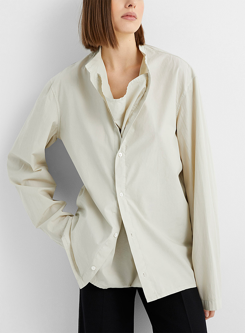 Lemaire Light Grey 2-in-1 convertible blouse for women