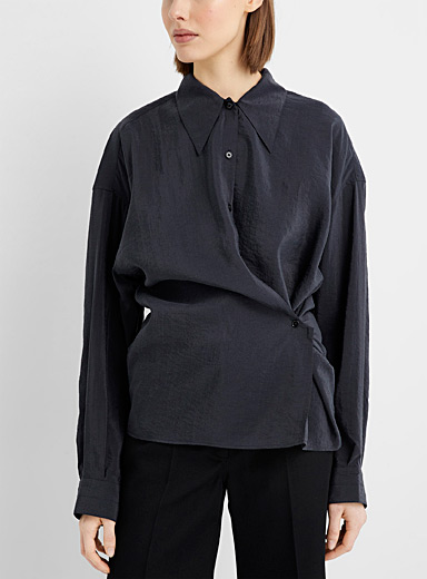 Silky twisted shirt