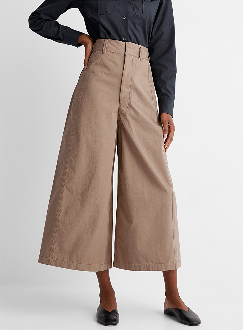 Lemaire Sand Cropped wide-leg pant for women
