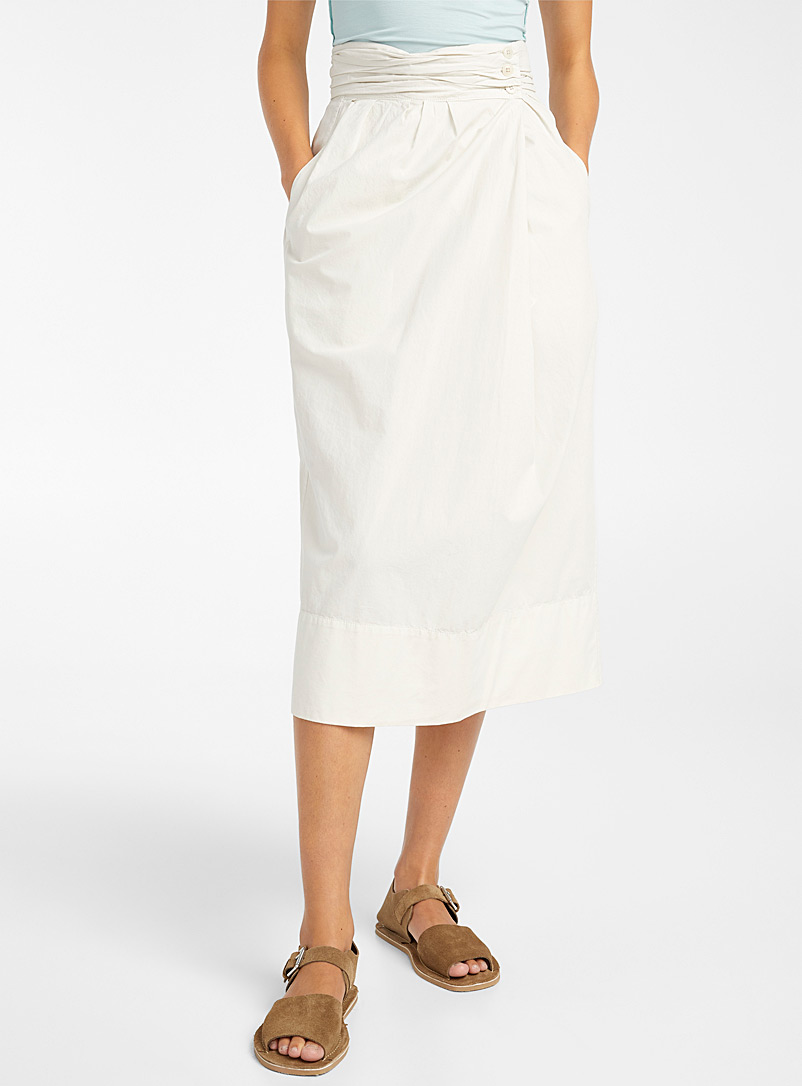 Lemaire Grey Cocoon skirt for women