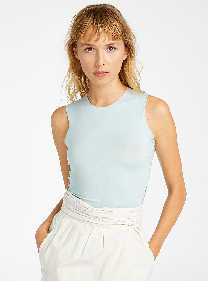 Lemaire Baby Blue Second skin tank for women
