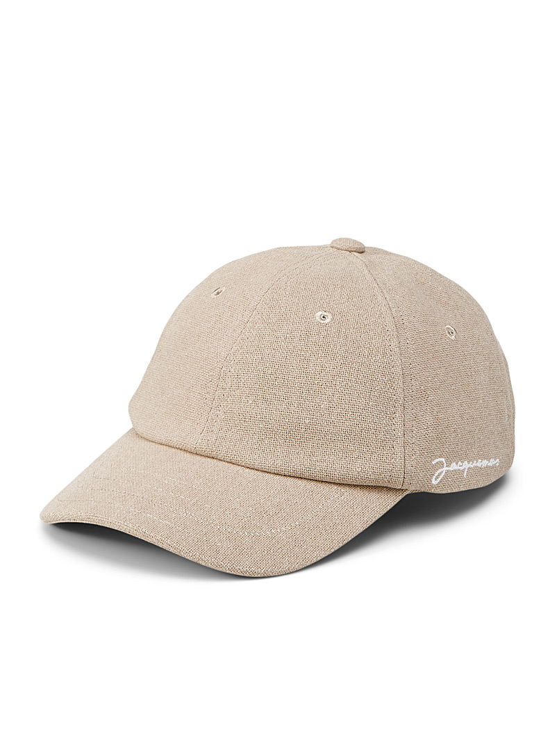Jacquemus Brown Recycled cotton cap for men