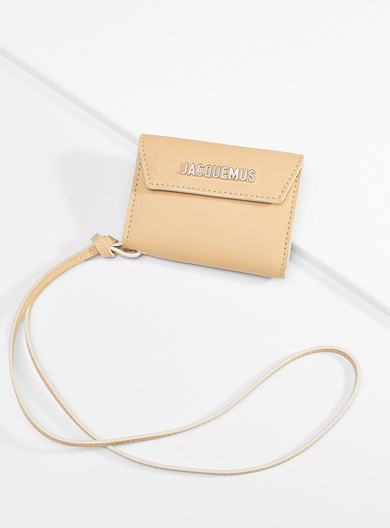 Jacquemus Cream Beige Neck card holder for men