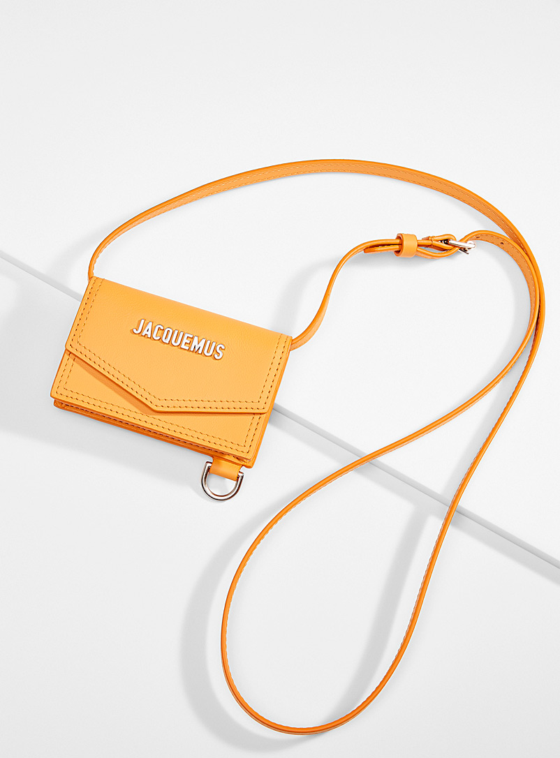 Jacquemus Golden Yellow Azure tangerine card holder for men