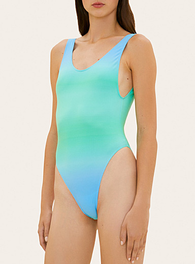 Jacquemus Blue Camerio bathing suit for women
