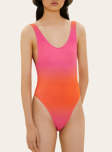 Jacquemus Medium Pink Camerio bathing suit for women