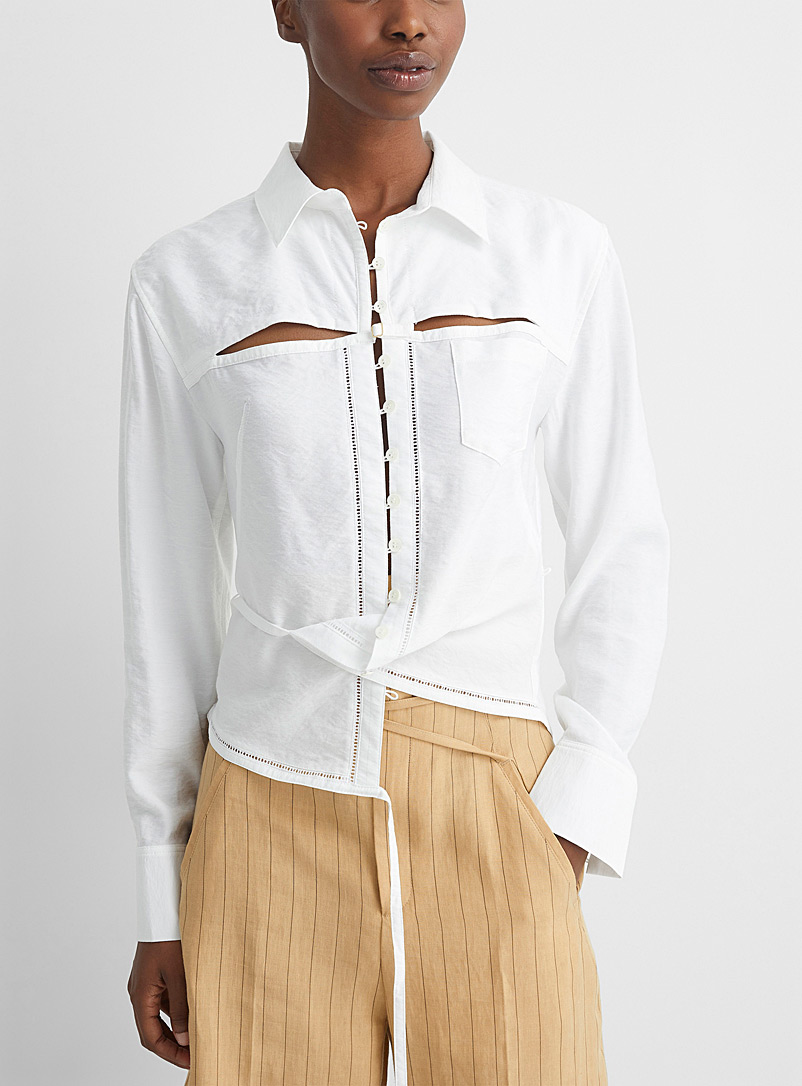 Jacquemus White Nappe shirt for women