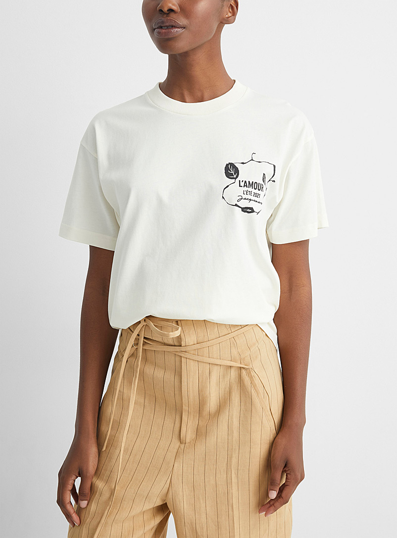 Jacquemus Ivory White L'amour T-shirt for women