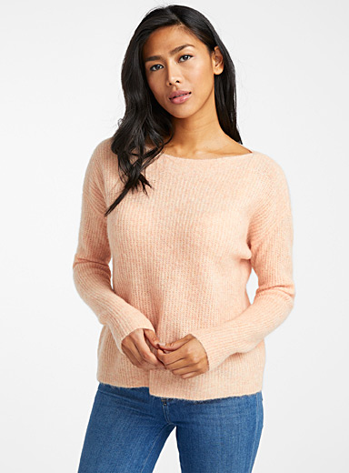 Mohair-blend ribbed sweater