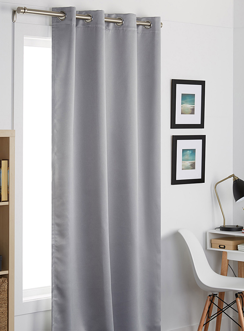 Silk touch curtains  140 x 220 cm - Solid - Grey