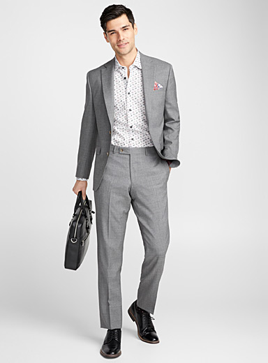 Chambray suit <br>Regular fit