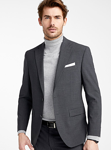 Semi-plain jacket  Semi-slim fit