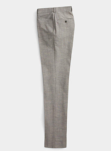 Chambray grey pant  Straight fit