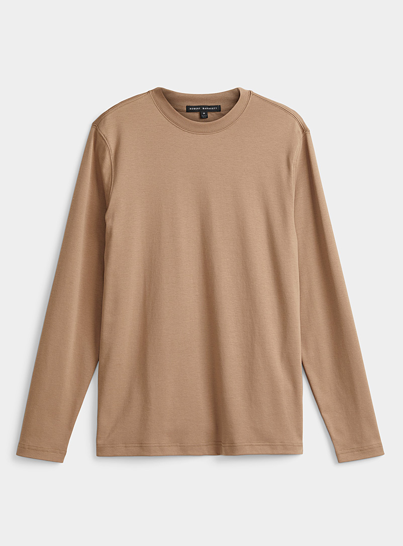 Luxurious pima cotton long sleeves T-shirt