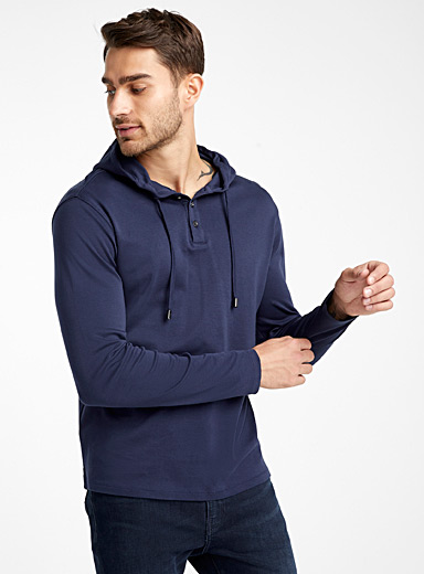 Pima cotton hooded T-shirt