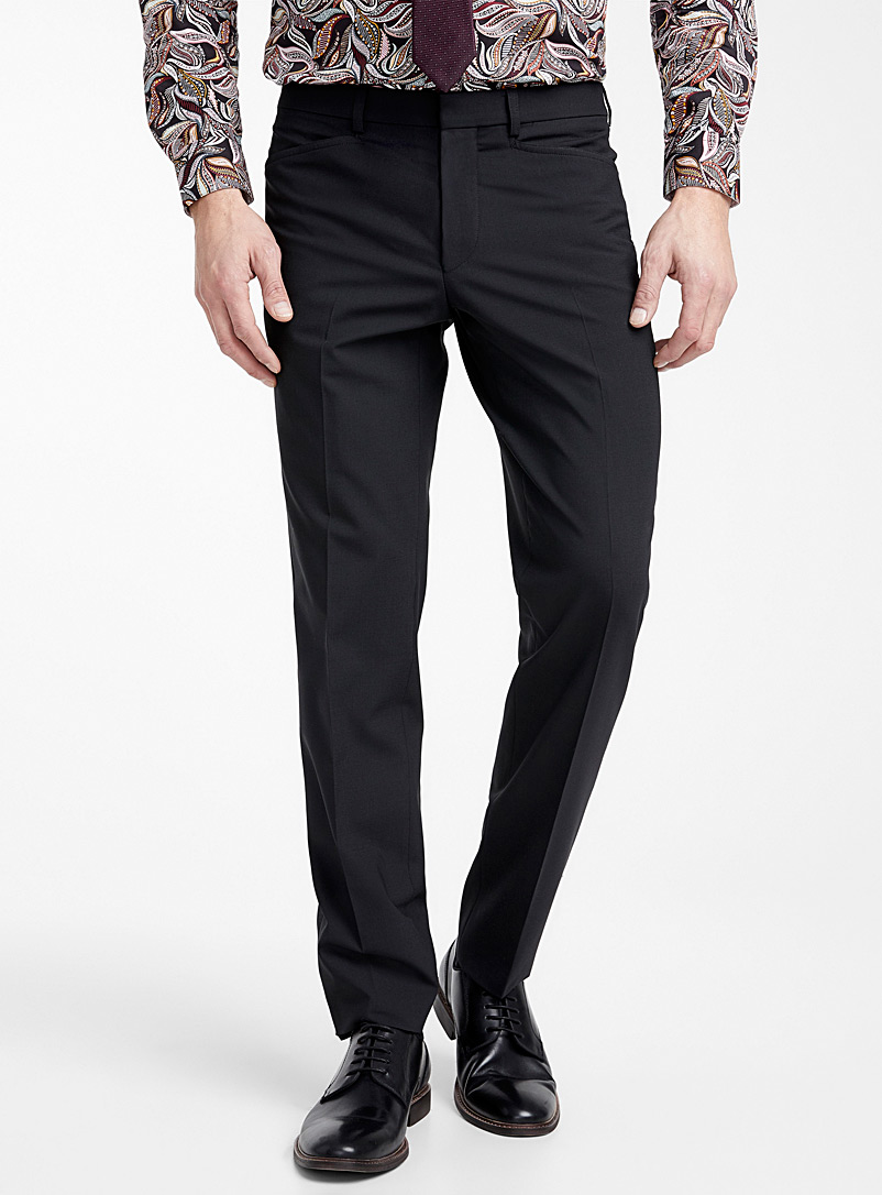 Riviera by Jack Victor Black Business pant  Straight fit for men