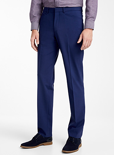 Riviera by Jack Victor Blue Business pant  Straight fit for men