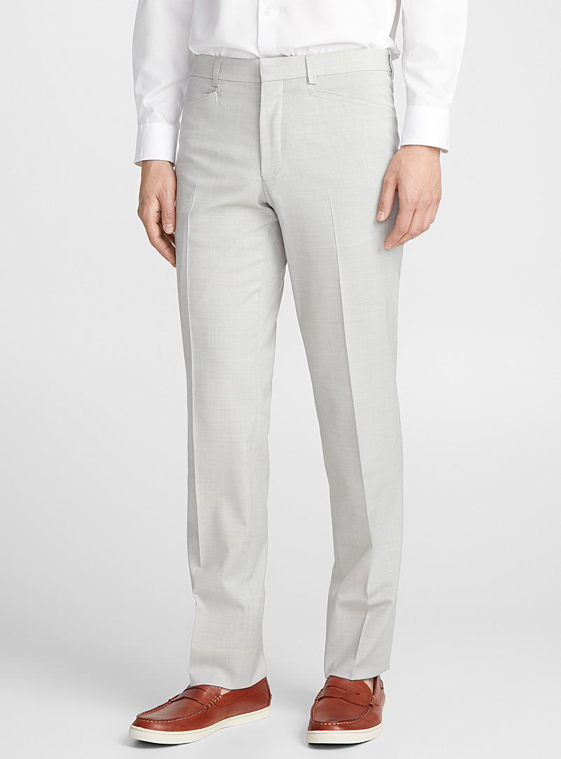 Stone grey pant  Straight fit - Tailored - Light Grey