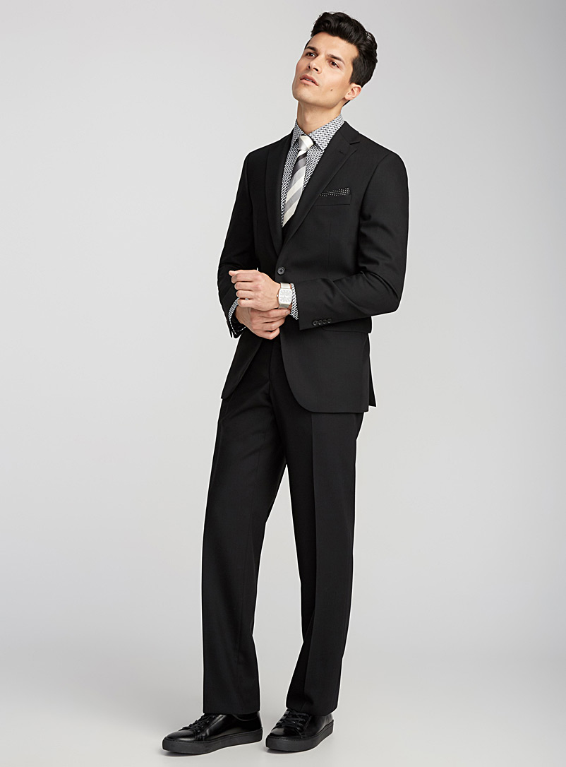 4-season black wool suit  Regular fit - Regular Fit - Black