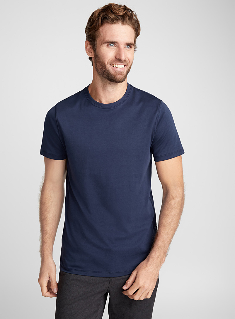 Robert Barakett Marine Blue Luxurious pima cotton T-shirt for men