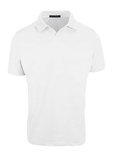 Johnny collar Pima cotton polo