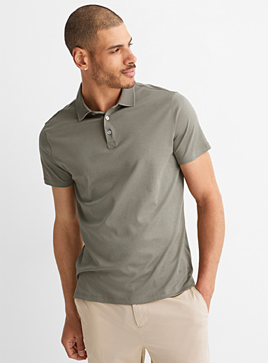 Monochrome Pima cotton polo