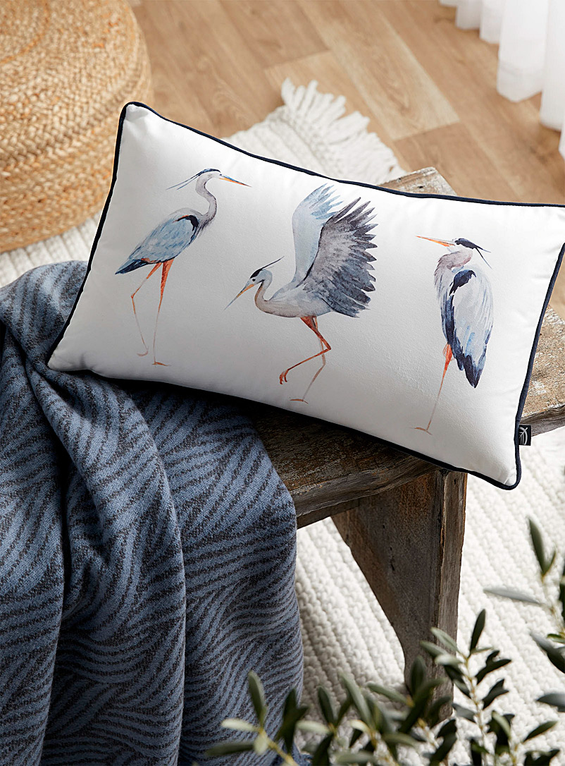 Great heron cushion  30 x 50 cm - Cushions - Assorted