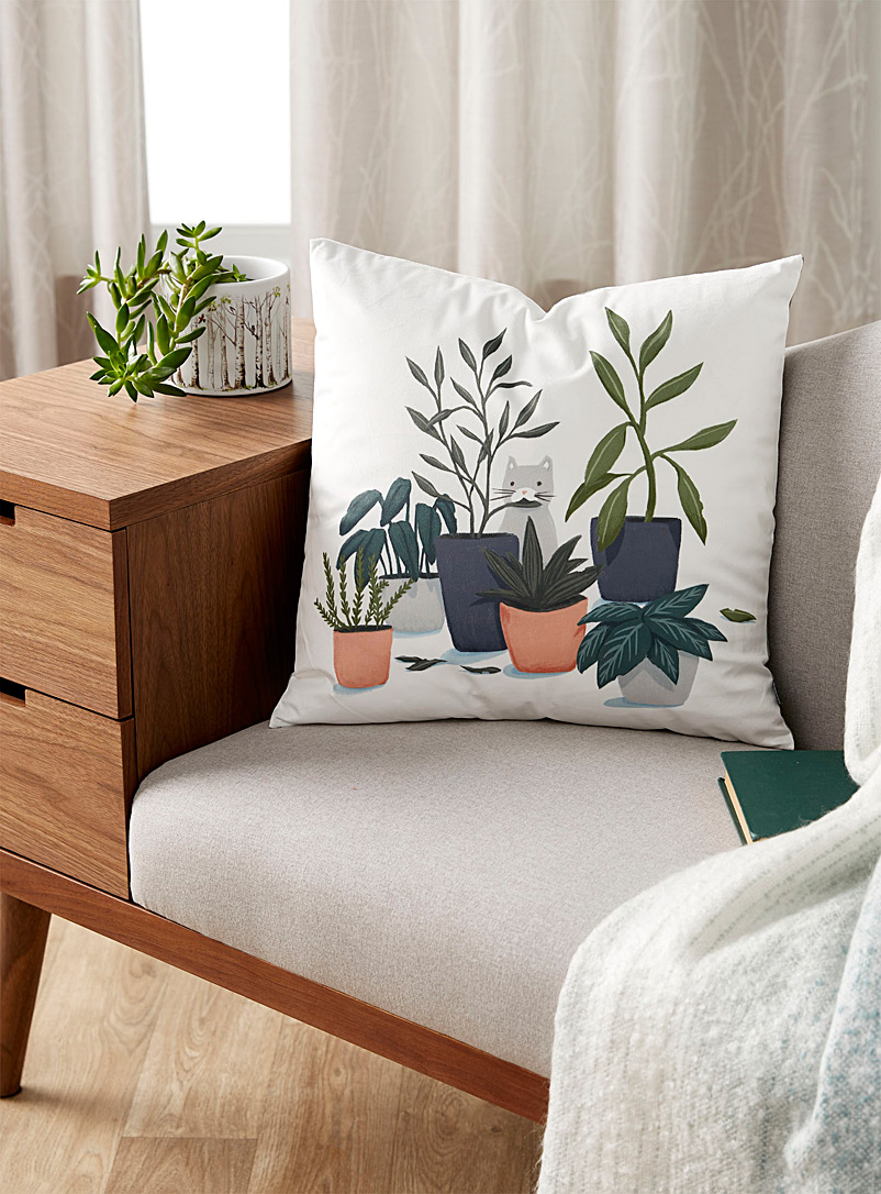 Simons Maison Assorted Plant nibbler cushion  45 x 45 cm