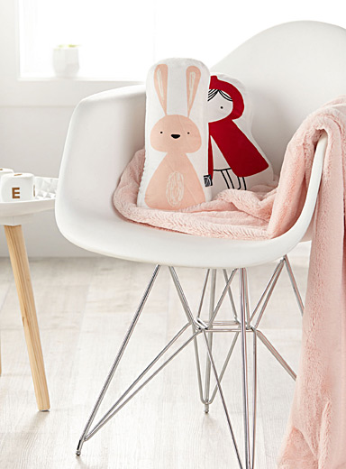 Pretty bunny plush cushion