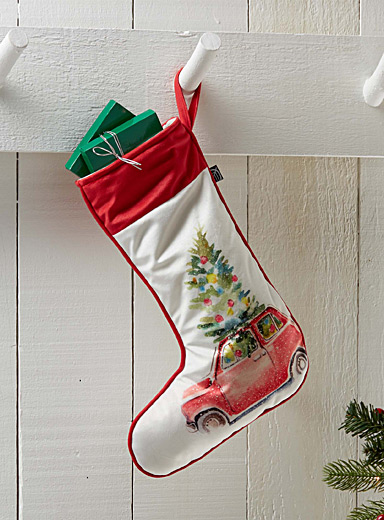 Bring home the tree Christmas stocking