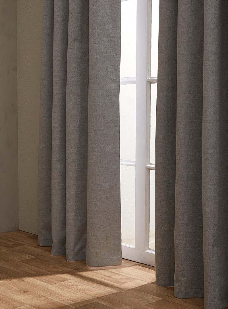 Simons Maison Grey Natural tone blackout curtain  140 x 220 cm