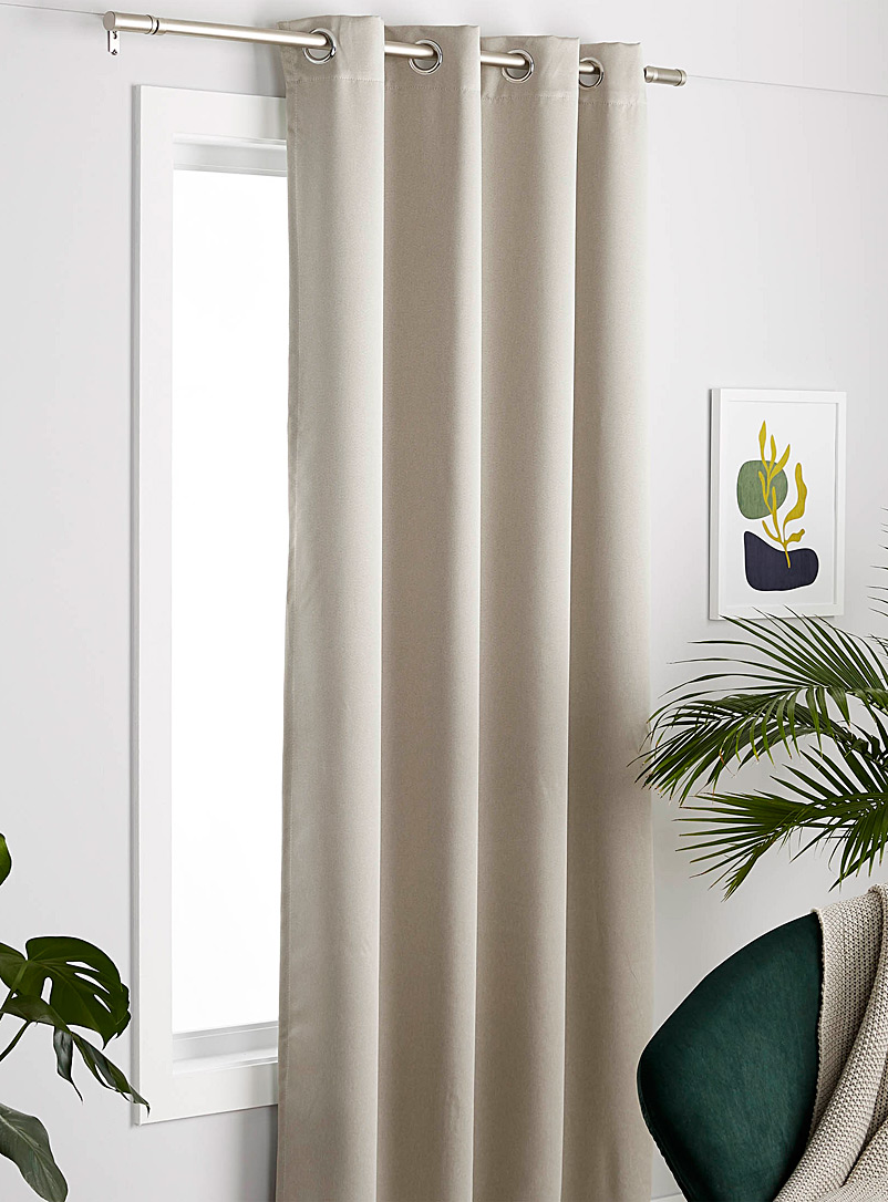 Silky curtain  140 x 220cm - Solid - Ivory White