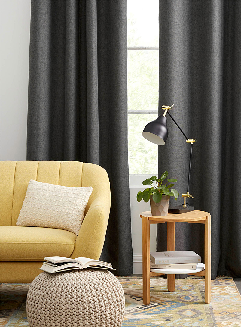 Touch of linen blackout curtain  138 x 250 cm