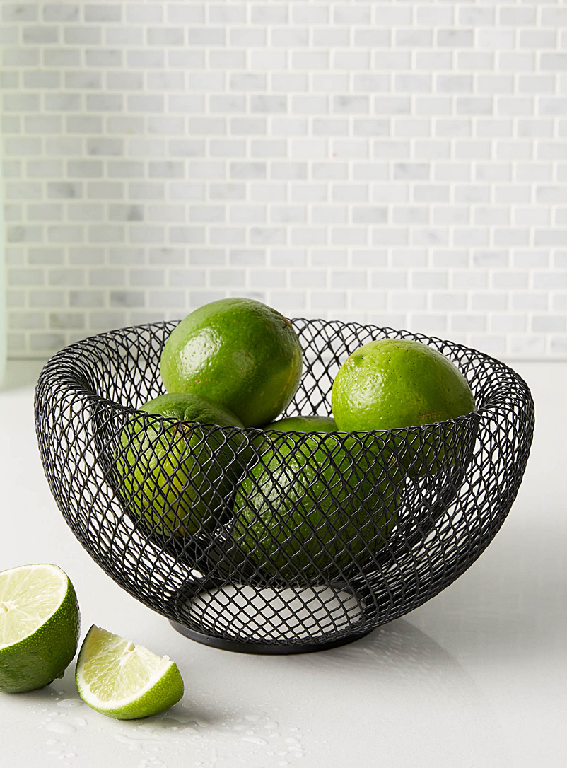 Small modern wire mesh fruit bowl - Fruit Bowls & Baskets - Black