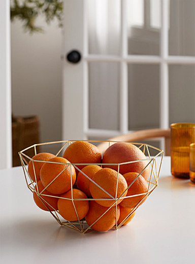 Simons Maison Assorted Gold metal fruit bowl