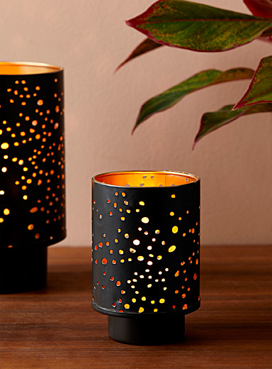 Small starry night candle holder