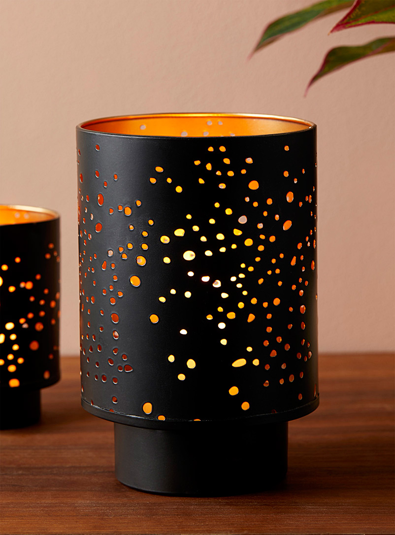 Simons Maison Black Large starry night candle holder