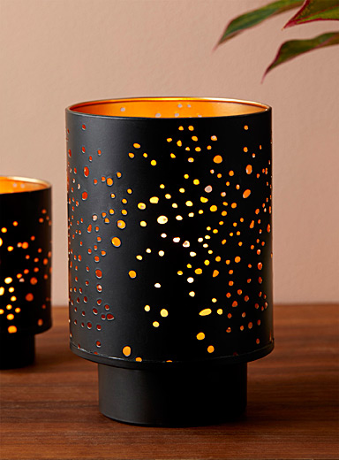 Large starry night candle holder