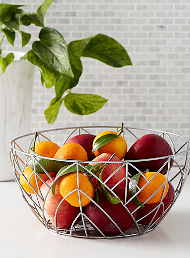 Botanical line fruit bowl