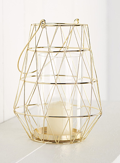 Golden metallic lantern